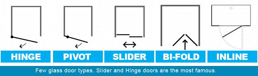 Different shower door types